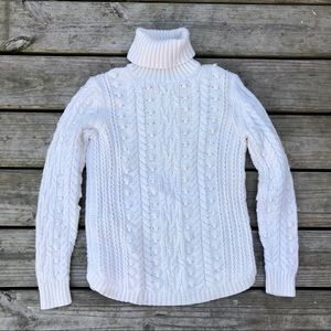 Gap ivory knit turtle neck sweater